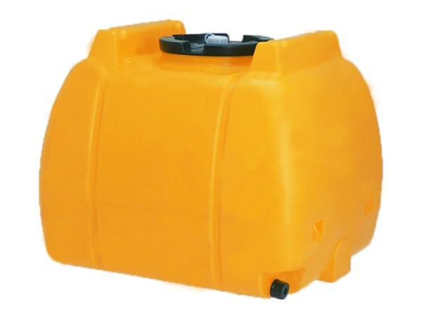 画像1: コダマ樹脂工業 ローリータンク タマローリー横型タイプ AT-600 (イエロー) 1インチフィッティング付 (1)