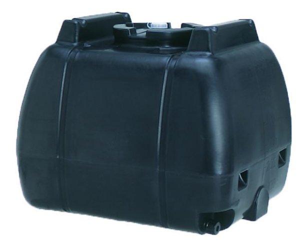 画像1: コダマ樹脂工業 ローリータンク タマローリー横型タイプ AT-600B (ブラック) 1インチフィッティング付 (1)