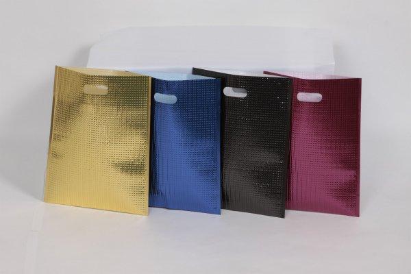 画像1: 封緘シール付き 保冷袋 カラータイプ(ブラック) Mサイズ 1ケース100枚入り (1)